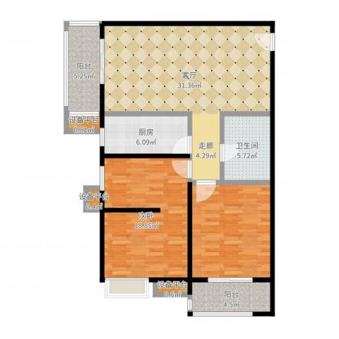 嘉禾广运1室1厅1卫1厨110.00㎡户型图