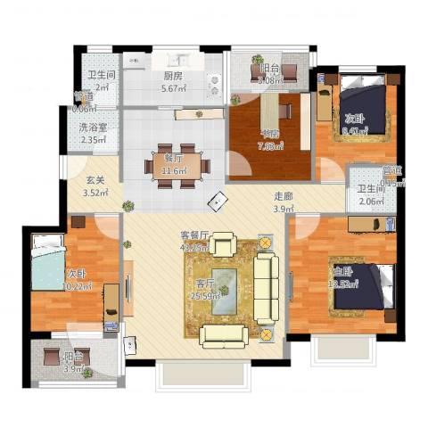 天骄国际5室2厅4卫1厨102.28㎡户型图