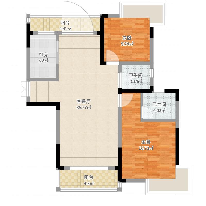 天门壹号66栋512三房二厅二卫129.99平