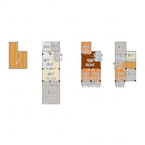 淮左郡庄园5室2厅4卫1厨482.00㎡户型图