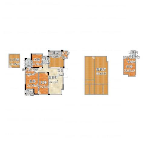 万硕・江城一品4室4厅7卫4厨282.00㎡户型图