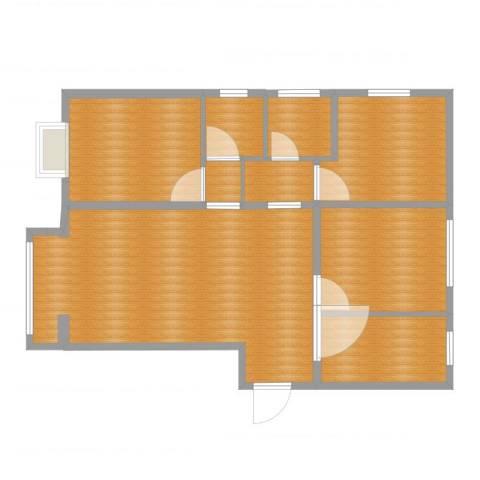 置嘉公寓1室1厅6卫1厨93.00㎡户型图