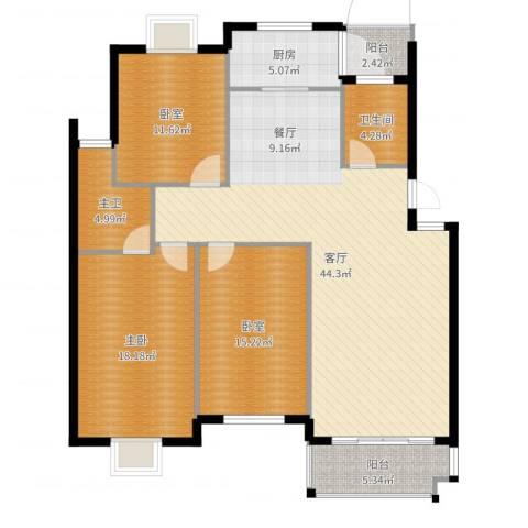 京华城怡景苑1室1厅1卫1厨139.00㎡户型图