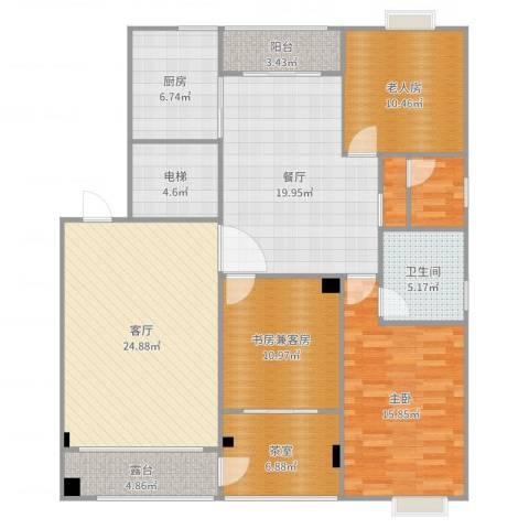 西子山庄2室1厅6卫2厨147.00㎡户型图