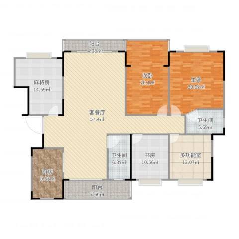和顺苑3室2厅2卫1厨211.00㎡户型图