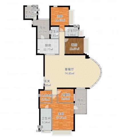 中海观园国际3室2厅4卫1厨253.00㎡户型图