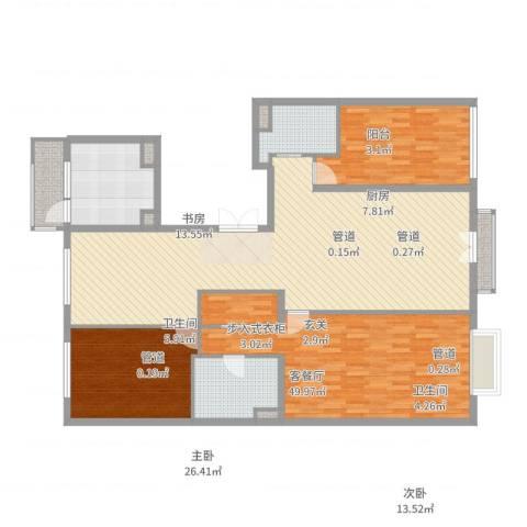 北京尊府3室2厅2卫1厨162.00㎡户型图