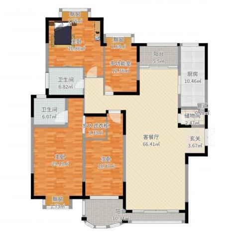 河畔新苑3室2厅2卫1厨241.00㎡户型图