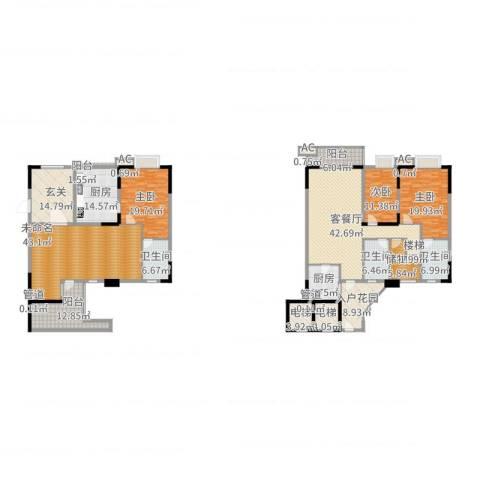 石竹山水园四期3室2厅3卫2厨333.00㎡户型图