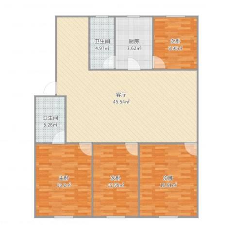 451047淞泽家园二区4室1厅2卫1厨148.00㎡户型图