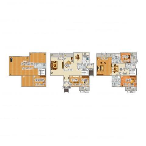 堤亚纳昱墅4室2厅5卫1厨565.00㎡户型图