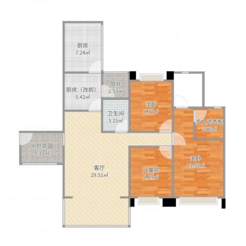 英郦庄园・曼城3室2厅1卫2厨109.00㎡户型图