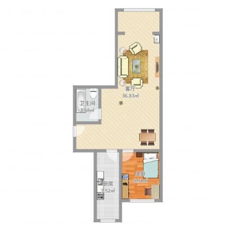 和义西里小区1室1厅1卫1厨71.00㎡户型图