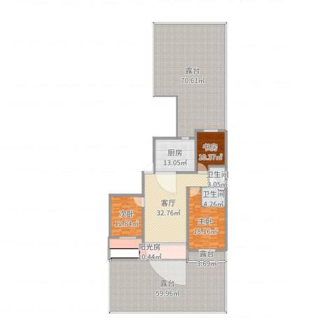 联发・香水湾3室1厅3卫1厨299.00㎡户型图