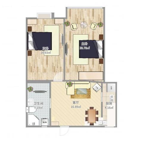 淞南五村2室1厅1卫1厨82.00㎡户型图