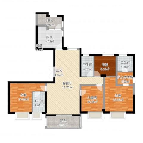 ART蓝山4室2厅3卫1厨155.00㎡户型图