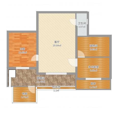 联发・香水湾1室1厅4卫1厨107.00㎡户型图