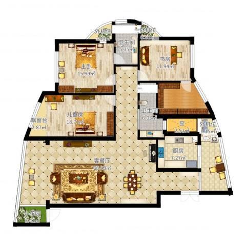 BOBO城3室2厅5卫4厨191.00㎡户型图