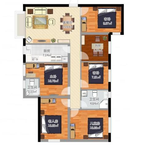 南明苑静和园3室2厅2卫1厨136.00㎡户型图