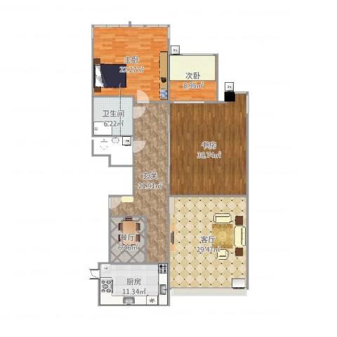 康宁家园3室2厅1卫1厨172.00㎡户型图