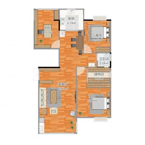 联泰棕榈庄园3室2厅1卫1厨125.00㎡户型图