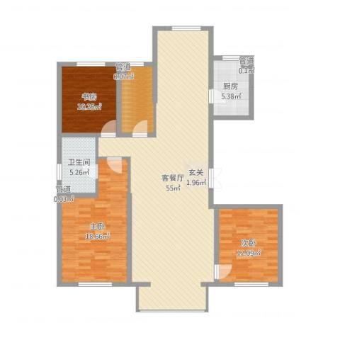 浦江御品3室2厅1卫1厨141.00㎡户型图