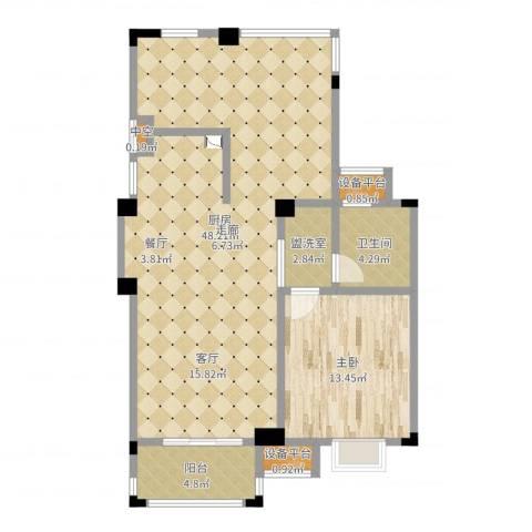东渡伊顿小镇1室1厅4卫1厨94.00㎡户型图