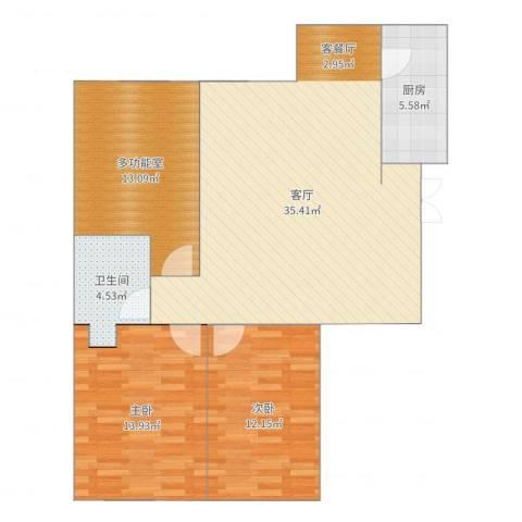 天福城2室1厅1卫1厨112.00㎡户型图