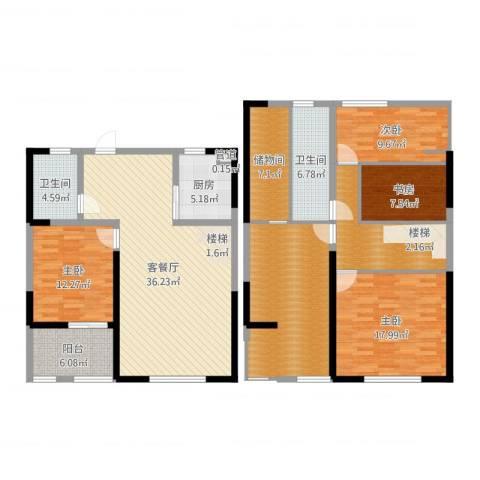 未来锦城4室2厅2卫1厨178.00㎡户型图