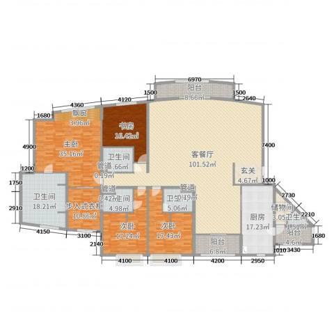 中粮海景一号4室2厅5卫1厨340.00㎡户型图