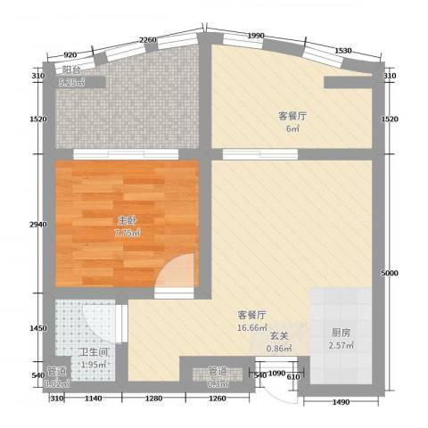 洱海国际生态城1室4厅1卫0厨58.00㎡户型图