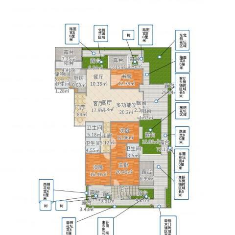 富力城D区4室1厅4卫1厨382.00㎡户型图