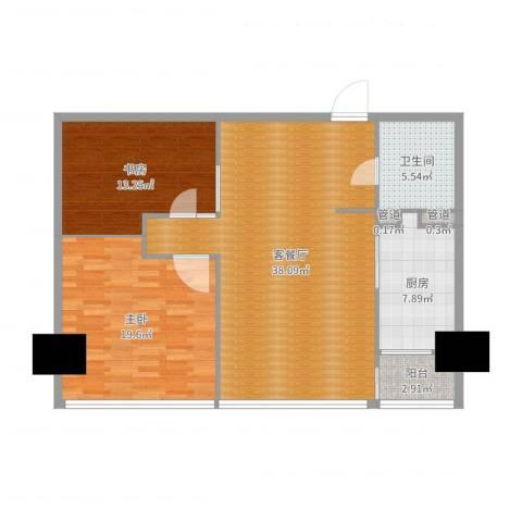凤凰文化广场2室2厅1卫1厨110.00㎡户型图