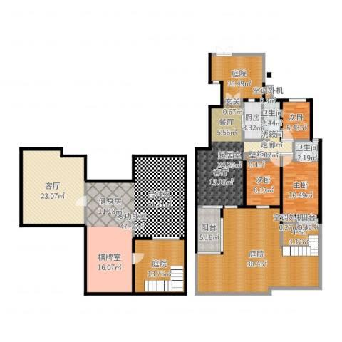 国信观湖湾3室2厅7卫2厨249.00㎡户型图