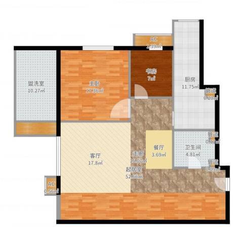 仙都绿苑2室2厅7卫1厨108.04㎡户型图