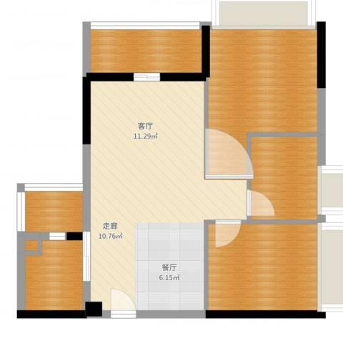 星誉花园3室1厅1卫3厨77.00㎡户型图