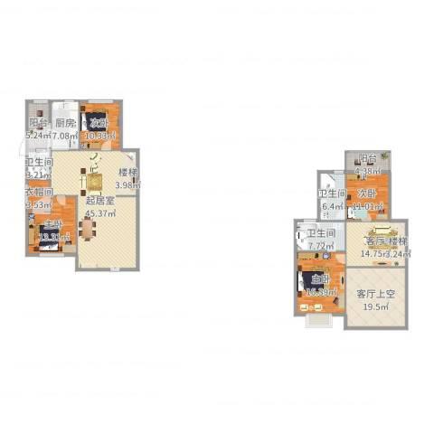 御之苑4室1厅5卫1厨210.00㎡户型图