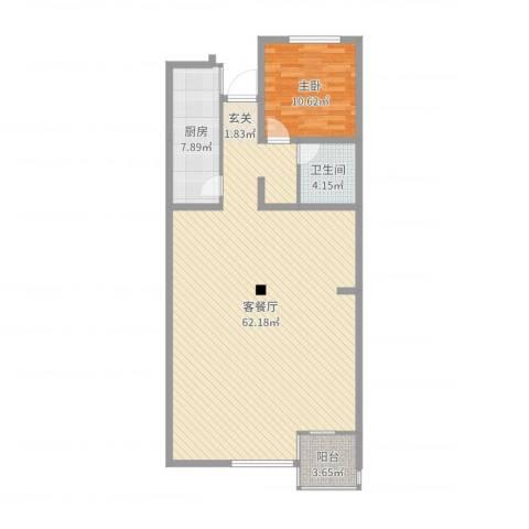 吉盛花园1室2厅1卫1厨111.00㎡户型图