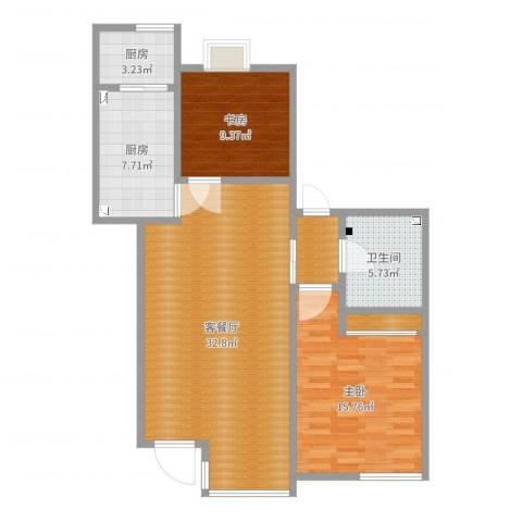 乐豪斯-世纪城24增2-ZZL0022室2厅1卫2厨98.00㎡户型图