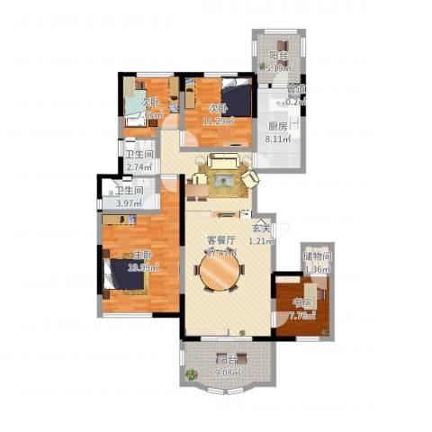 碧桂园凤凰城4室2厅2卫1厨143.00㎡户型图
