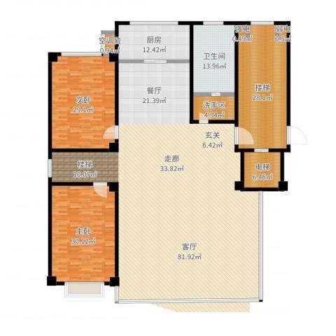 凤鸣郡3室1厅5卫1厨343.00㎡户型图