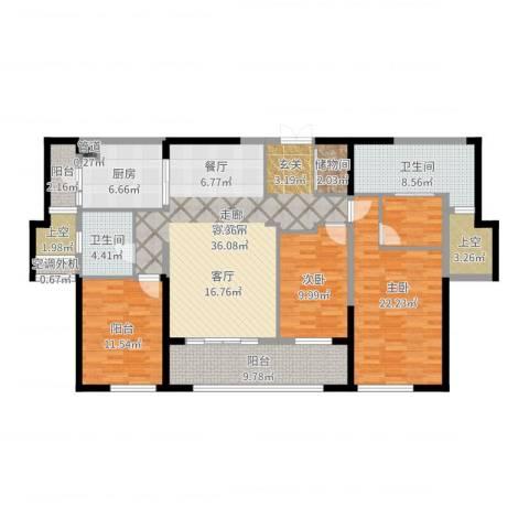 万科紫台2室2厅2卫1厨150.00㎡户型图