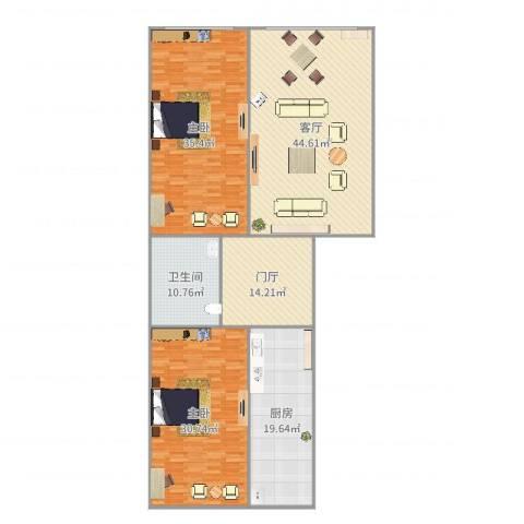京润现代城2室1厅1卫1厨194.00㎡户型图