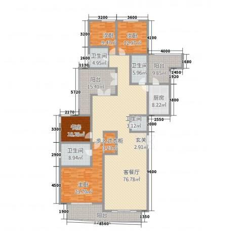 凯创城市之巅4室2厅4卫1厨232.89㎡户型图