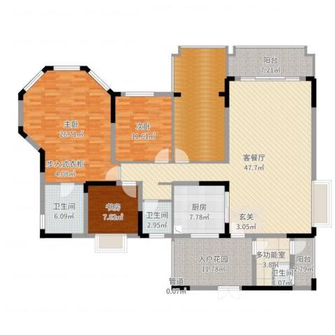 爱加西西里3室2厅3卫1厨194.00㎡户型图
