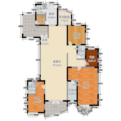 凯创城市之巅4室2厅4卫1厨233.55㎡户型图