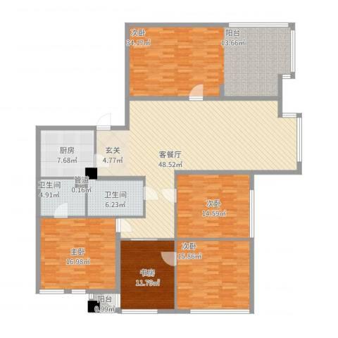 南方香榭里5室2厅2卫1厨224.00㎡户型图