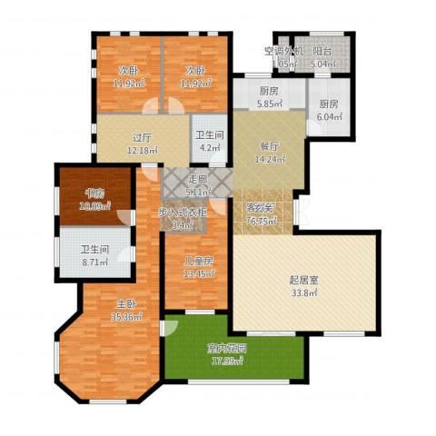 东岸国际5室2厅2卫1厨253.00㎡户型图