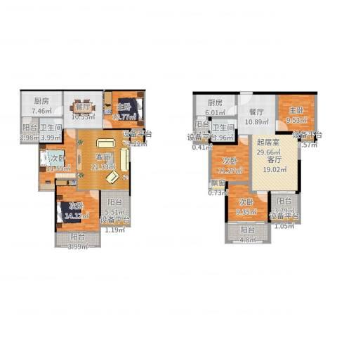中央香榭6室2厅2卫2厨222.00㎡户型图