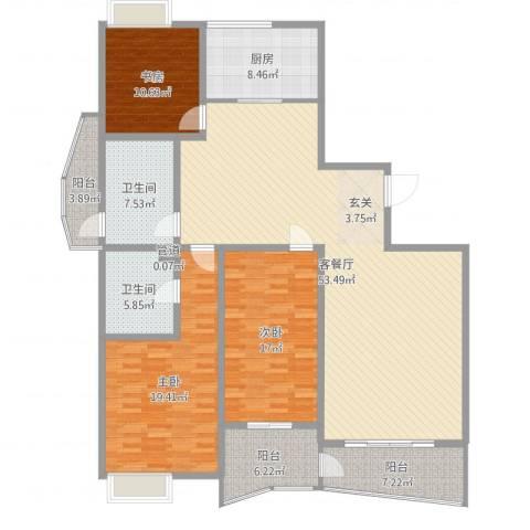 新富专家公寓3室2厅2卫1厨175.00㎡户型图
